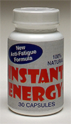 Instant Energy, Anti-fatigue formula.